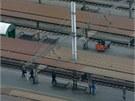 Současný pohled na druhé až čtvrté nástupiště olomouckého hlavního nádraží.