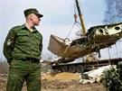Odklízení trosek polského letadla v ruském Smolensku (14. dubna 2010)