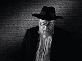 Rab�n Karol Sidon (z v�stavy portr�t� fotografa Pavla Bruncl�ka v Museu Kampa)