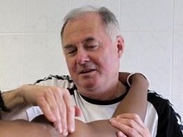 Masér jihlavských fotbalistů Pavel Křížek