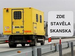 Kvůli cedulím u dálnice se Skanska bránila u soudu.