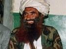 Velitel mudžahedínů Džalaludín Hakkání na snímku z roku 1991