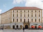 Vizualizace plánované podoby rekonstruovaného barokního Salmova paláce, který stojí na olomouckém Horním náměstí.