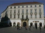 Barokní Salmův palác, který stojí na olomouckém Horním náměstí, před zahájením...
