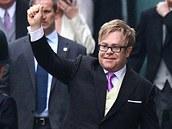Elton John na kr�lovsk� svatb� (29. 4. 2011)