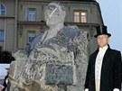 Odhalení sochy Františka Ulricha v Hradci Králové