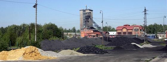 Uhelné sklady v areálu bývalého Dolu Žofie v Orlové.