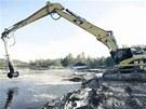 Těžba ropných kalů se zastavila.