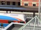 Vizualizace nových nástupišť na nádraží v Ústí nad Orlicí