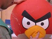 Natáčení reklamy Angry Birds