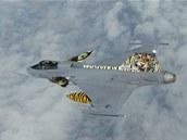 Letoun Jas-39 Gripen elitní tygří letky