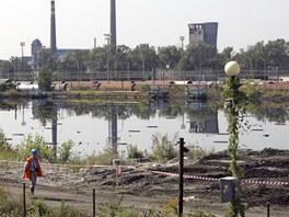 Ostravské ropné laguny v roce 2011..