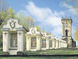 Výstava v Rumburku návštěvníky seznámí i s křížovou cestou v Jiřetíně pod Jedlovou, která vede na Křížovou horu. Postavena byla ve druhé polovině 18. století.