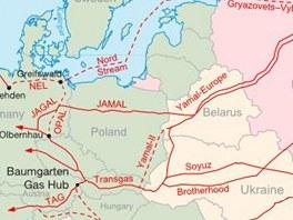 Plynovody Nord Stream a South Stream Rusku umožní vyhnout se dodávkám přes střední Evropu.