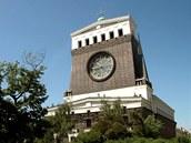 Kostel Největšího Srdce Páně (1932) na náměstí Jiřího z Poděbrad v Praze projektoval slovinský architekt Josip Plečnik.