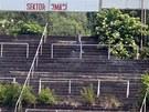 Místo, kde na legendárním fotbalovém stadionu za Lužánkami stával kotel...