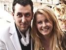 Iveta Bartošová a Domenico Martucci na Staroměstském náměstí v Praze