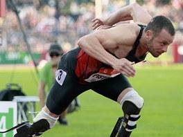 handicapovaný atlet Oskar Pistorius na Zlaté tretře Ostrava