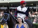 Žokej Dušan Andrés s koněm Calandem