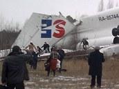 Tupolev Tu-154 letecké spole�nosti Dagestan Airlines nouzov� p�istál na moskevském leti�ti Domod�dovo. (4. prosince 2010)