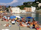 Pl v Sestri Levante u ztoky Baia del Silenzio