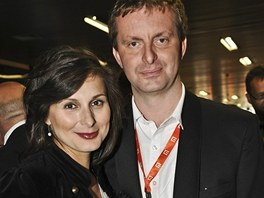 Těhotná herečka Zdeňka Volencová Žádníková s manželem (2011)