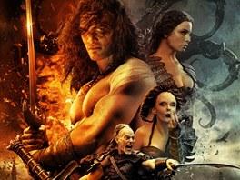 Plak�t k nov� verzi filmu Barbar Conan, kter� proslavil Arnold Schwarzenegger.