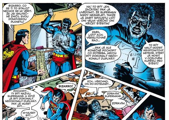 Stránka z knihy Superman: Co se stalo s mužem zítřka?