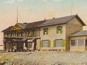 Dávná podoba Slezského domu postaveného v roce 1880.