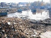 Prostranství po demolici Kotasova stadionu v roce 2003, zde by měla vyrůst nová