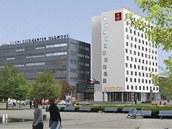 Vizualizace nové podoby hotelu Sigma v Olomouci