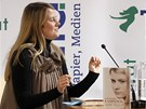 Rakušanka Natascha Kampuschová ve Vídni předčitala ze své knihy o životě v