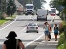 Pražská ulice v Rumburku, právě na ní se incident odehrál