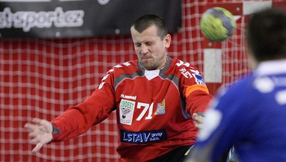 Brankář Josef Kučerka.z Hranic