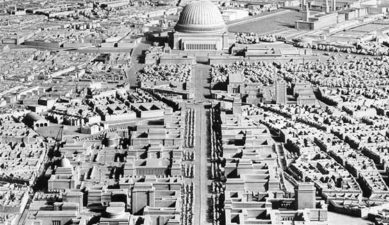 Model Germánie: Berlín měl být kompletně přebudován ve velkolepém stylu.