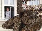 Sochu z 85 tisíc klíčů představil v Liberci její autor Jiří David (na snímku).