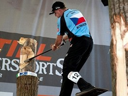 Martin Komárek na disciplíně Springboard