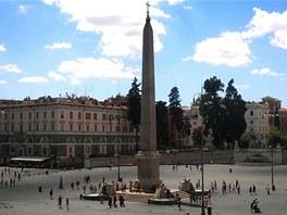 Piazza del Popolo s obeliskem