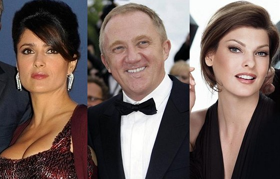 Salma Hayekov, jej manel Francois-Henri Pinault a Linda Evangelista