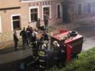 Požár penzionu v Hlavňově na Náchodsku.