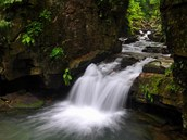 Kr�sa beskydsk�ch Satinsk�ch vodop�d� pod Lysou horou.