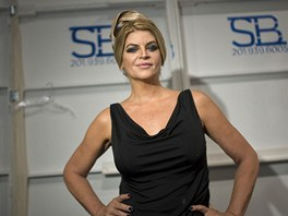 Kirstie Alley coby modelka na Fashion Weeku v New Yorku