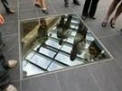 Oprava Domu umění v Opavě - původní studnu návštěvnící mohou vidět přes sklo v