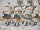 Joža Uprka: Úvodnice z Velké - Z kostela (1896)