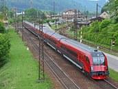 Railjet p�i cest� do zku�ebního centra VUZ Velim v Ústí nad Orlicí