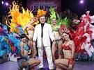 Karel Gott s tanečnicemi
