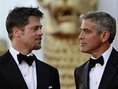 Filmový festival Benátky 2008 - Brad Pitt a George Clooney - Benátky (27. srpna...