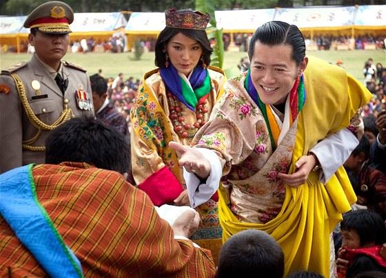 Svatba bhútánského krále Khesar Namgjel Vangčuka s Džetsun Pemou (13. října