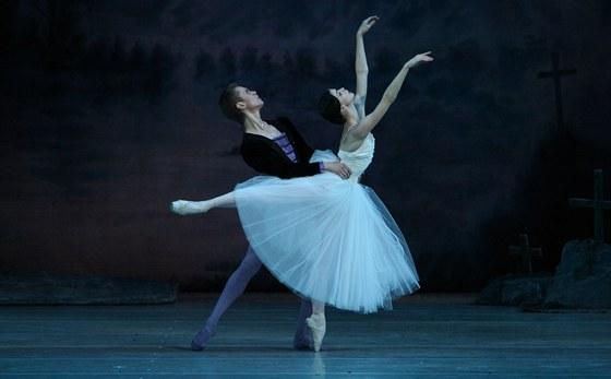 Z baletu Giselle, který se bude jako první přenášet do kin v trojrozměrném