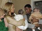 Mariah Carey, její manžel Nick Cannon a dvojčata Moroccan a Monroe